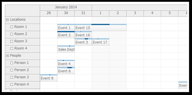 scheduler default css theme