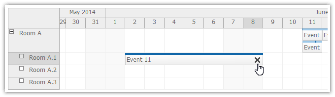 scheduler for asp.net mvc event deleting