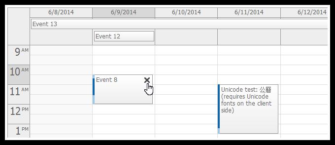 event calendar for asp.net mvc event deleting