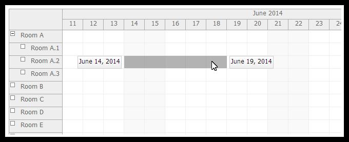asp.net mvc scheduler drag and drop event creating indicator