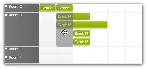 scheduler move event to cell