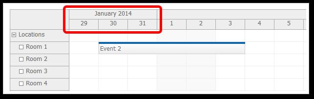 scheduler floating time headers true