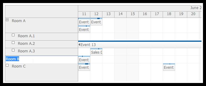 scheduler for asp.net mvc row editing