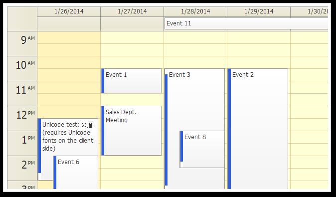 event calendar traditional css theme