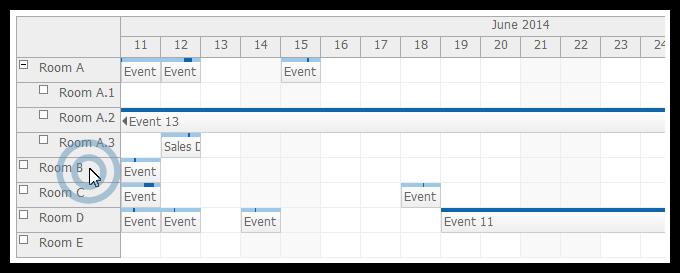 mvc scheduler row double click